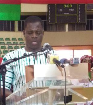 Le représentant des personnes vivant avec un handicap, M. Souleymane Ouédraogo