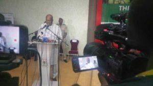 Le Chef L'Etat Roch Marc Christian Kaboré procédant à l'ouverture du Forum de la Diaspora à Ouagadougou