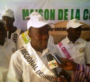 M. Moussa Traoré, installé coordonnateur du mouvement pour la culture de la paix et l'amour de la patrie à Bobo Dioullasso».