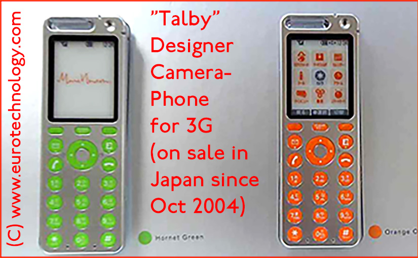 Marc Newson designed Talby mobile phone announced by KDDI as part of the KDDI Design Project, today branded iida phones