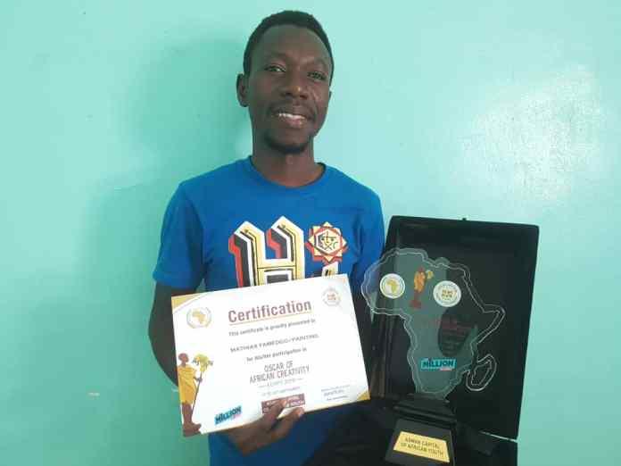 Oscar de la créativité Africaine en Egypte : Le burkinabè Mathias Yaméogo classé 3ème -dans- la -catégorie- peinture