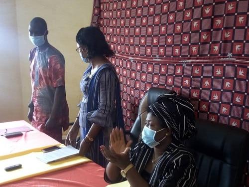 Haut-commissariat -du –Loroum- Aissata -Angélina -TRAORE -passe -le -témoin