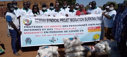 Kaya –le- réseau-syndical- projet- migration- Burkina- vole- au- secours- des- déplacés- internes