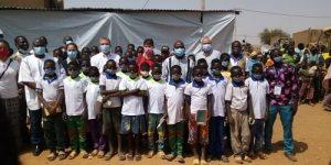 Le ministre en charge de l'Education nationale, Stanislas Ouaro, accompagné d'une délégation de l'UNICEF, a visité des infrastructures scolaires mises en place dans le cadre de l'éducation en situation d'urgence, le vendredi 5 février 2021, à Kaya.