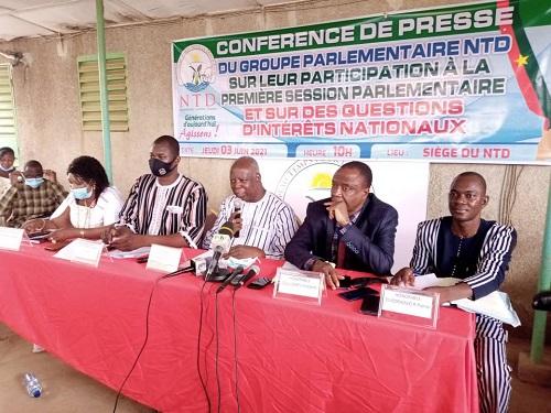 Première-session- parlementaire- de l-Assemblée- Nationale- le- NTD -fait –le- bilan- de- sa- participation