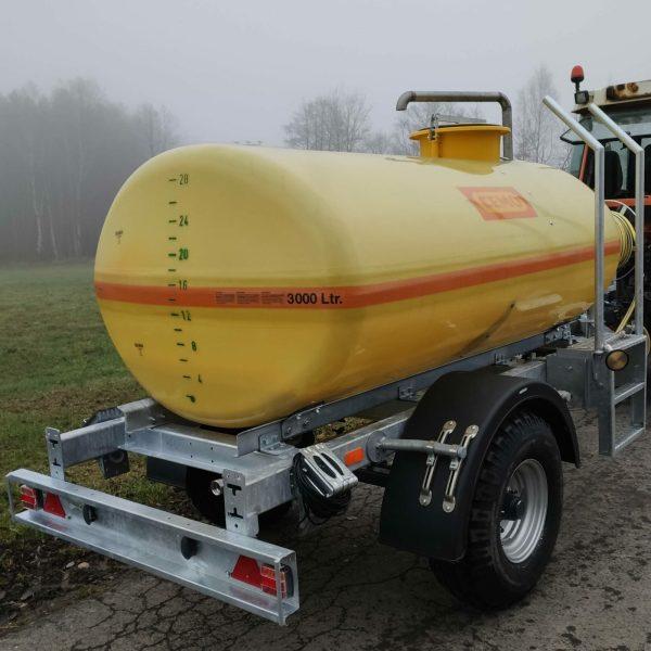 Wasserfass Anhänger 3000 Liter Wasserfass Anhänger mit Pumpe Wasserfasswagen