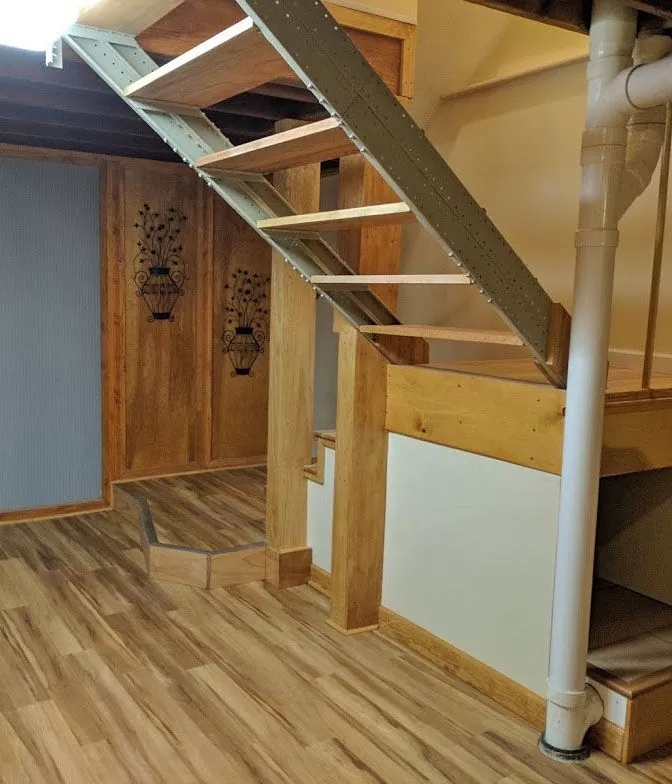 Basement Stair Stringers By Fast Stairs Com | Cost To Add Stairs To Basement | House | Flooring | Stair Treads | Stair Case | Unfinished Basement
