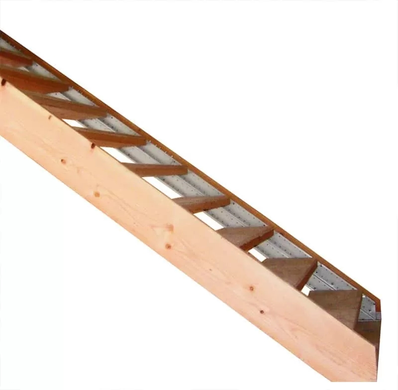 Wood Finished Stair Stringers By Fast Stairs Com | Best Wood For Stair Stringers | Primer | Stair Railing | Deck | Porch | Deck Stairs