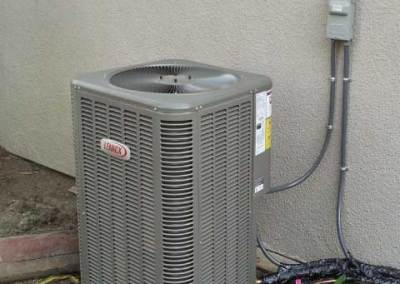 New Air conditioning condenser installation in the city of La Mirada
