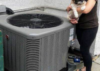 Happy customer after air conditioning installation in the city of Whittier
