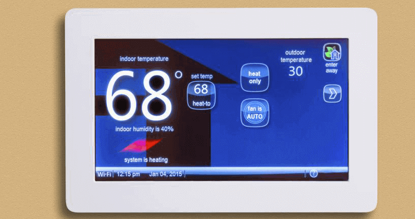 Choose a programmable touchscreen thermostat