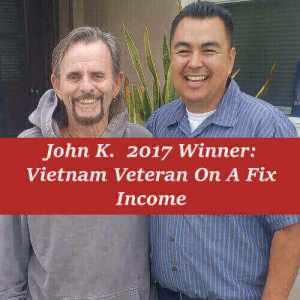 Angel with 2017 Free Furnace Giveaway Winner John K.