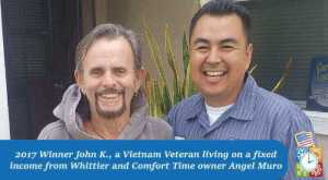John K. winner of last year's furnish giveaway as well as air Angel Muro the owner of Comfort Time