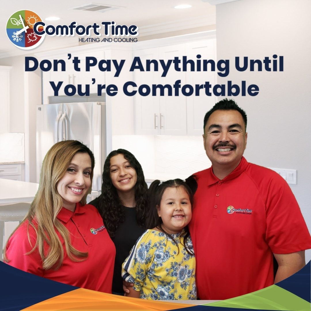 Dont pay anything on your furnace or A/C installation or repair until your comfortable