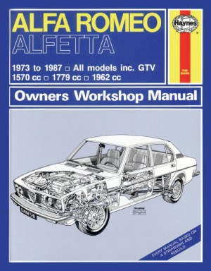 Haynes Workshop Car Repair Manual Alfa Romeo Alfetta (73