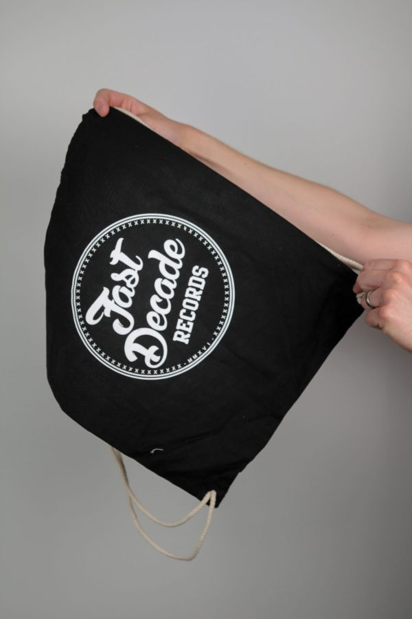 Fast Decade Records Drawstring bag logo