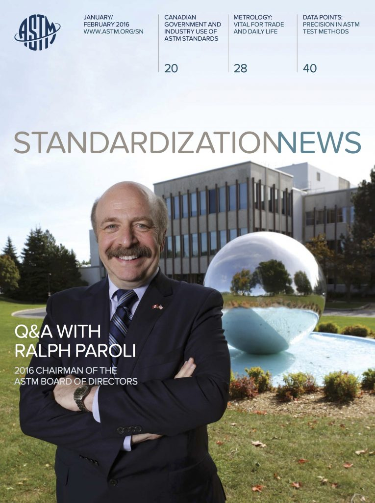 ASTM International Standardization News Cover January February 2016