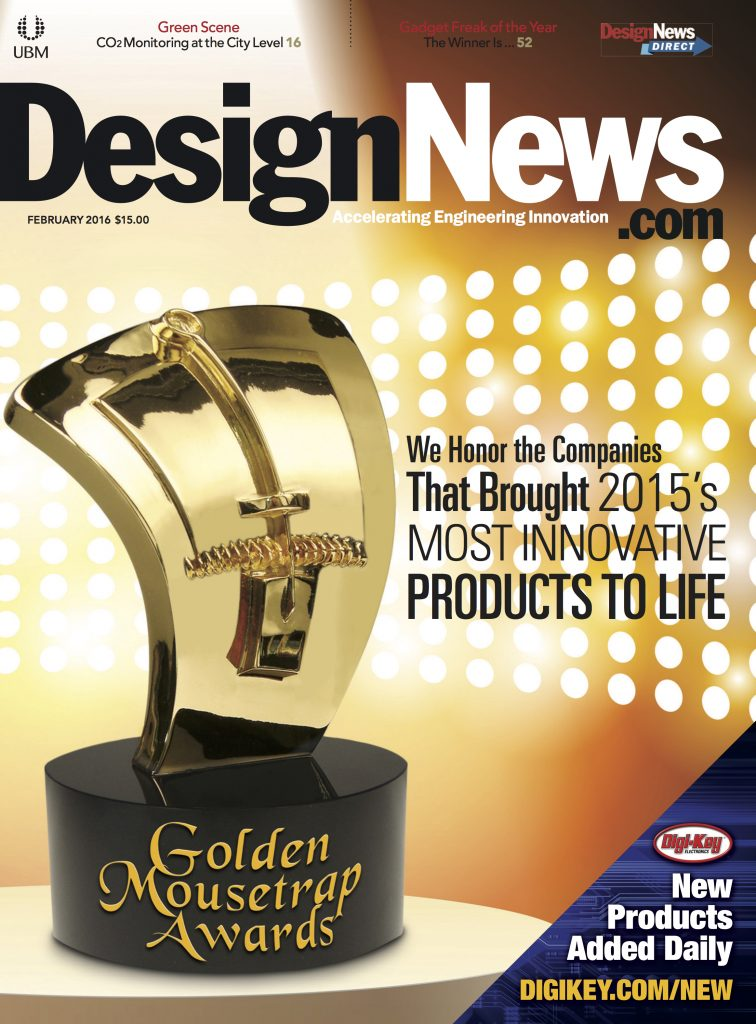 Design News February 2016 COVER