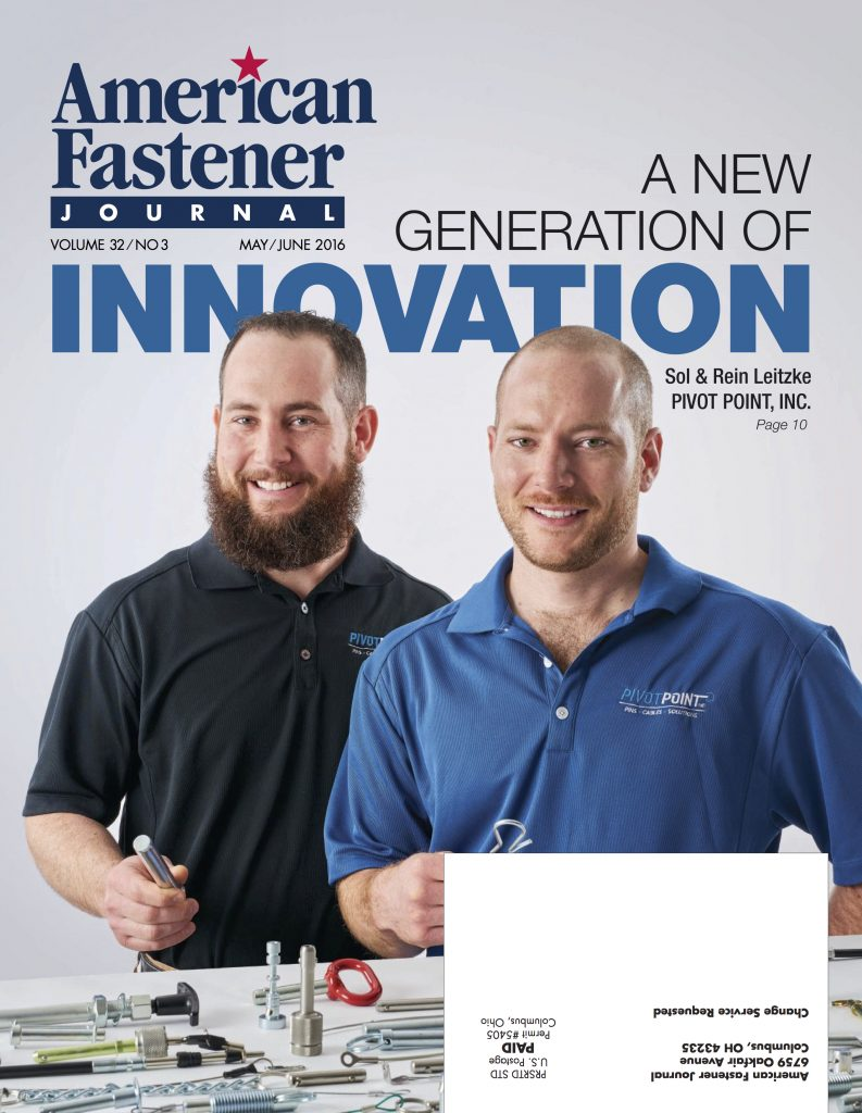 American Fastener Journal May June 2016
