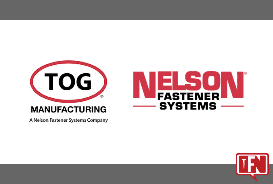 TOG Manufacturing has joined the Nelson Fastener Systems family of