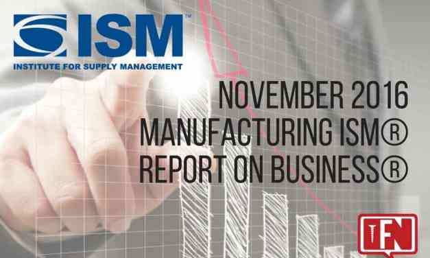 November 2016 Manufacturing ISM® Report On Business®