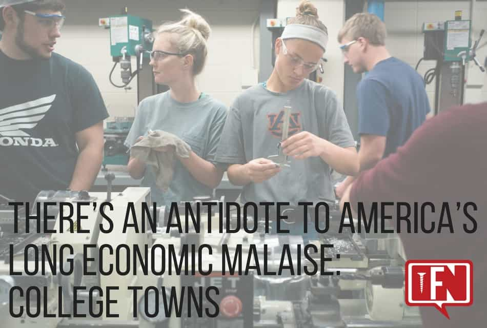There's an Antidote to America's Long Economic Malaise: College Towns