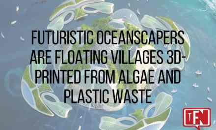 Futuristic Oceanscapers are Floating Villages 3D-printed from Algae and Plastic Waste