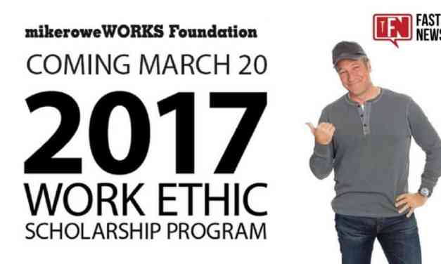The 2017 Work Ethic Scholarship Program launches Monday, March 20, 2017