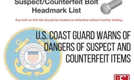 U.S. Coast Guard Warns of Dangers of Suspect and Counterfeit Items