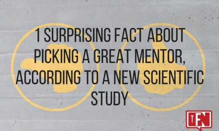 1 Surprising Fact About Picking a Great Mentor, According to a New Scientific Study