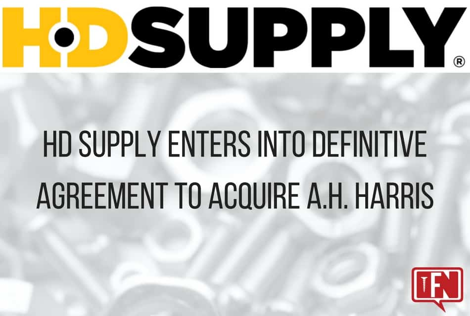 HD Supply Enters into Definitive Agreement to Acquire A.H. Harris