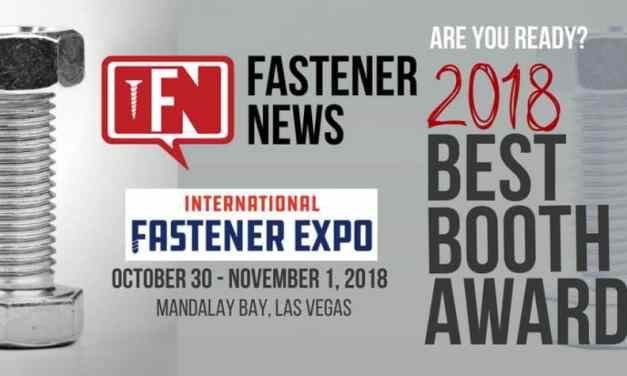 International Fastener Expo (IFE) Exhibitors, Are You Ready for the 2018 Best Booth Awards?