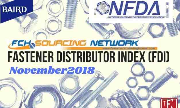 Fastener Distributor Index – November 2018