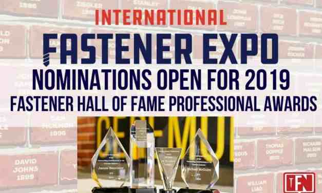 International Fastener Expo 2019 Accepting Nominations for Fastener Professional Awards