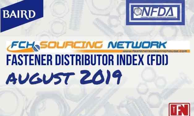 Fastener Distributor Index – August 2019
