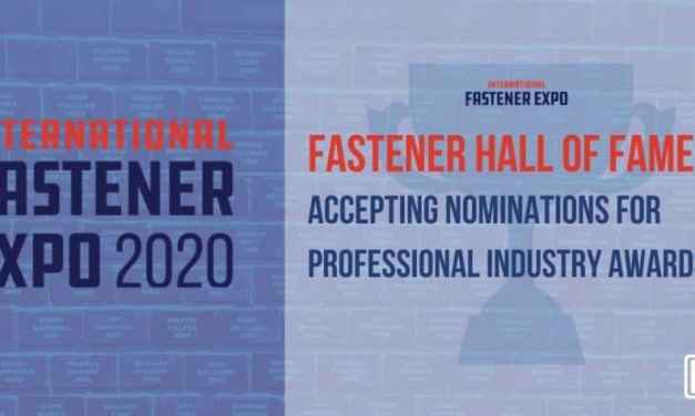International Fastener Expo 2020 Begins to Accept Nominations for Professional Industry Awards