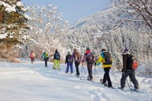 Fasten und Schneeschuhwandern