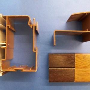 35mm Poly Eaves Beam (Woodgrain) | Conservatory Roof Bars | Conservatory Bars | PVC Bars | Faster Plastics