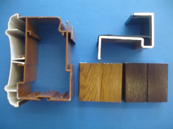 Glass Eaves Beam (Woodgrain)   Conservatory Roof Bars   Conservatory Bars   PVC Bars   Faster Plastics