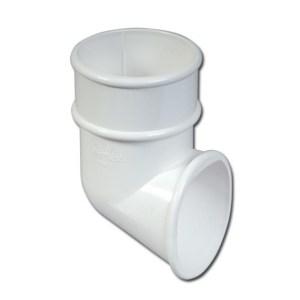 Round Downpipe Shoe (White) | Guttering | PVC Gutter | PVC Rainwater Goods | Faster Plastics