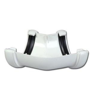 Half-Round Gutter Angle 135 Deg (White)   Guttering   PVC Gutter   PVC Rainwater Goods   Faster Plastics