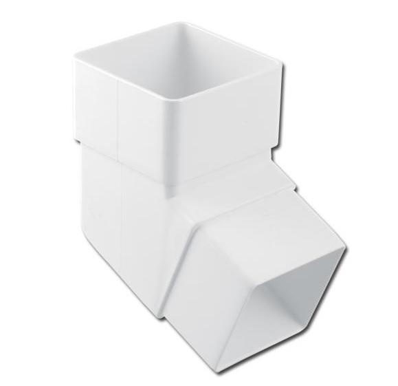 Square Downpipe Offset Bend 112 Deg (White) | Guttering | PVC Gutter | PVC Rainwater Goods | Faster Plastics