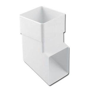 Square Downpipe Shoe (White) | Guttering | PVC Gutter | PVC Rainwater Goods | Faster Plastics