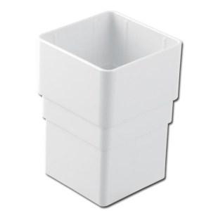 Square Downpipe Socket (White) | Guttering | PVC Gutter | PVC Rainwater Goods | Faster Plastics