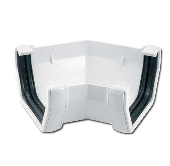 Square Gutter Angle 135 Deg (White)   Guttering   PVC Gutter   PVC Rainwater Goods   Faster Plastics