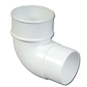 Round Downpipe Offset Bend 90 Deg (White)   Guttering   PVC Gutter   PVC Rainwater Goods   Faster Plastics