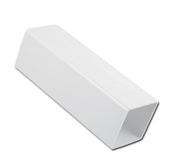 Square Downpipe 4.0 Mtr | Guttering | PVC Gutter | PVC Rainwater Goods | Faster Plastics
