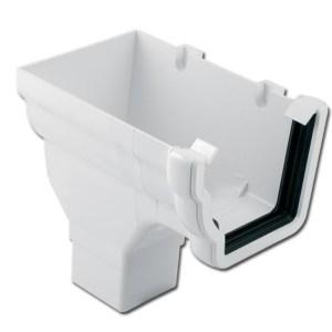 Ogee Gutter Stop End Outlet LH (White) | Guttering | PVC Gutter | PVC Rainwater Goods | Faster Plastics