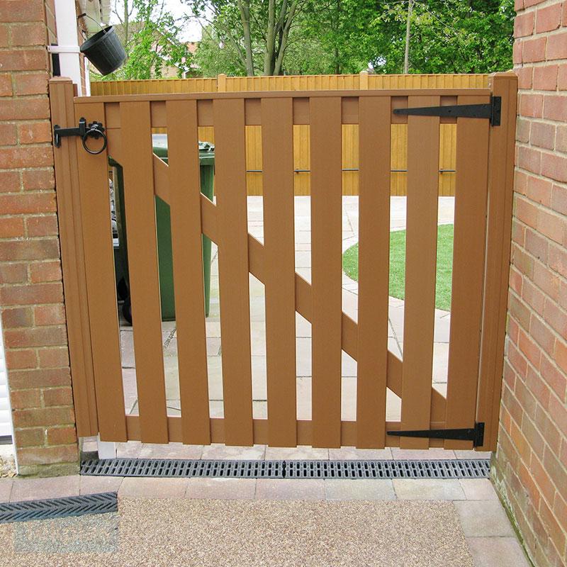 Pvc Small Slatted Gate Pvc Gates Small Plastic Gate