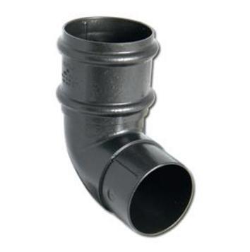 Cast Iron Effect Gutter | 92.5 Offset Bend Round Cast Iron | PVC Gutter | Faster Plastics